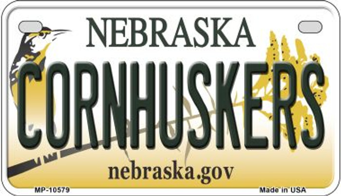 Cornhuskers Nebraska Novelty Metal Motorcycle Plate MP-10579