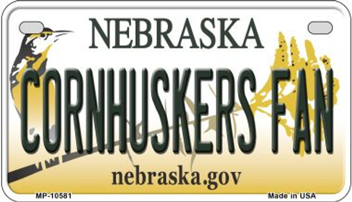 Cornhuskers Fan Nebraska Novelty Metal Motorcycle Plate MP-10581