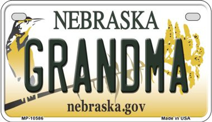 Grandma Nebraska Novelty Metal Motorcycle Plate MP-10586