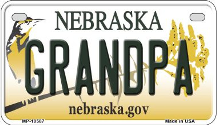 Grandpa Nebraska Novelty Metal Motorcycle Plate MP-10587
