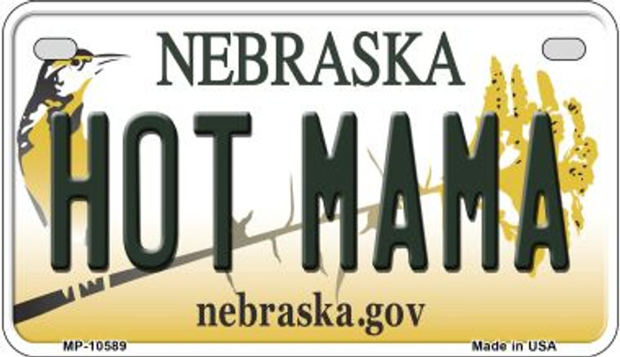 Hot Mama Nebraska Novelty Metal Motorcycle Plate MP-10589