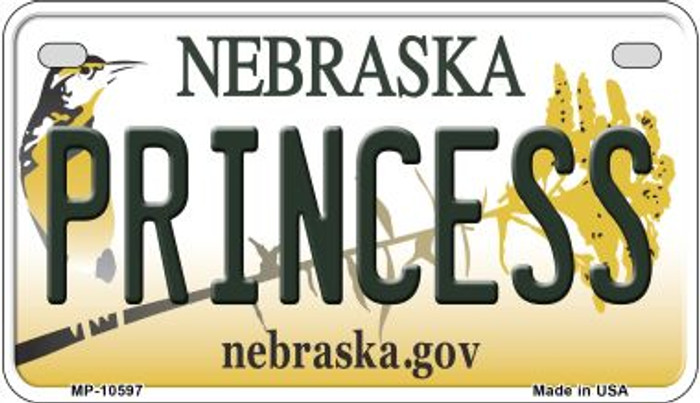 Princess Nebraska Novelty Metal Motorcycle Plate MP-10597