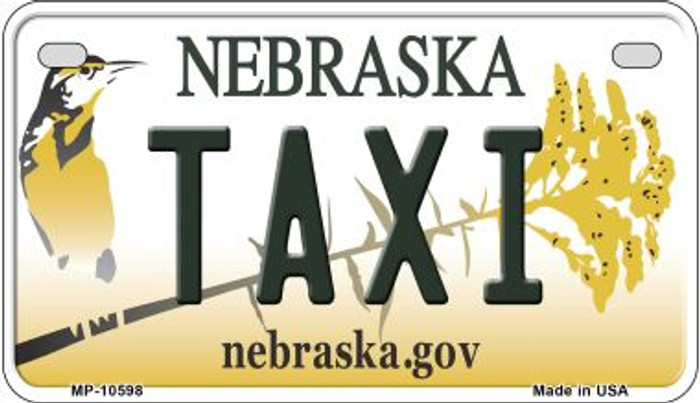 Taxi Nebraska Novelty Metal Motorcycle Plate MP-10598