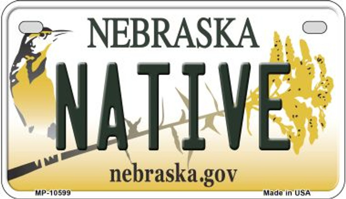 Native Nebraska Novelty Metal Motorcycle Plate MP-10599