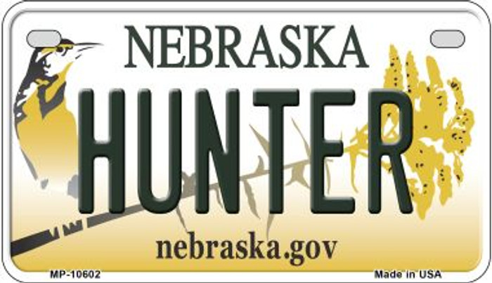 Hunter Nebraska Novelty Metal Motorcycle Plate MP-10602