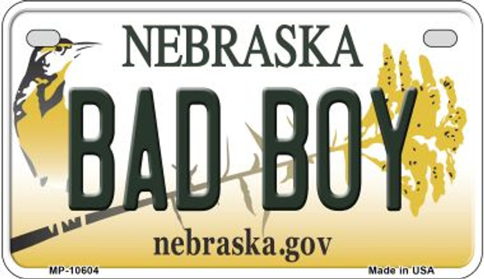 Bad Boy Nebraska Novelty Metal Motorcycle Plate MP-10604