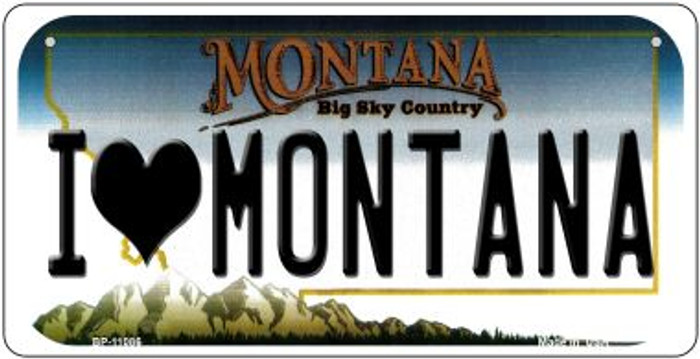 I Love Montana Novelty Metal Bicycle Plate BP-11086