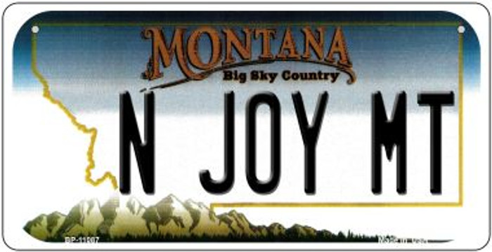 N Joy MT Montana Novelty Metal Bicycle Plate BP-11087