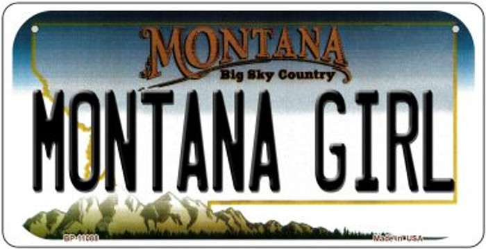 Montana Girl Novelty Metal Bicycle Plate BP-11088