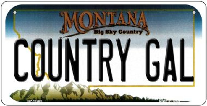 Country Gal Montana Novelty Metal Bicycle Plate BP-11089