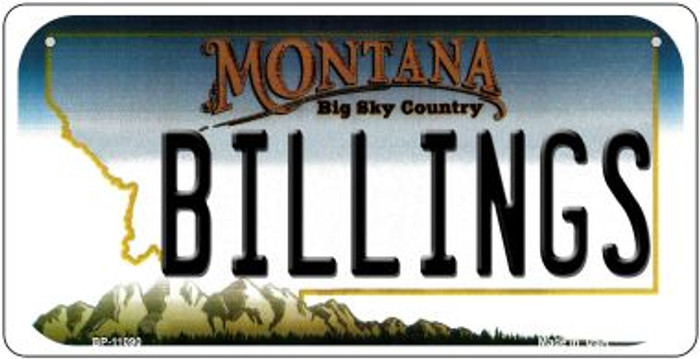 Billings Montana Novelty Metal Bicycle Plate BP-11090