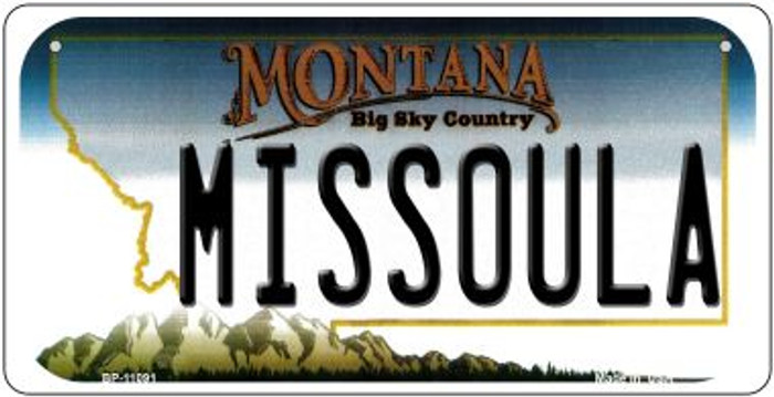 Missoula Montana Novelty Metal Bicycle Plate BP-11091