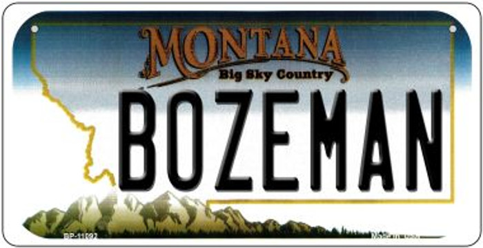 Bozeman Montana Novelty Metal Bicycle Plate BP-11092