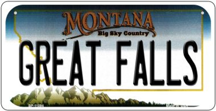 Great Falls Montana Novelty Metal Bicycle Plate BP-11094