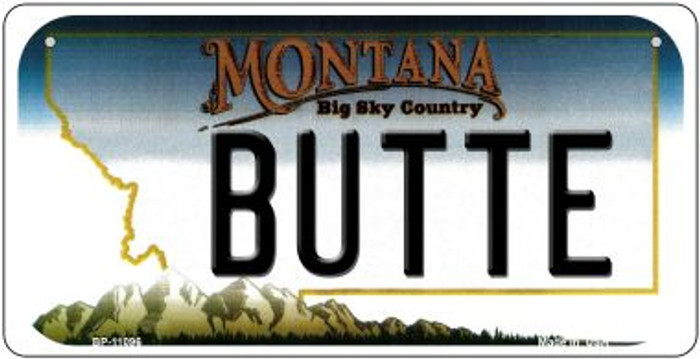 Butte Montana Novelty Metal Bicycle Plate BP-11096