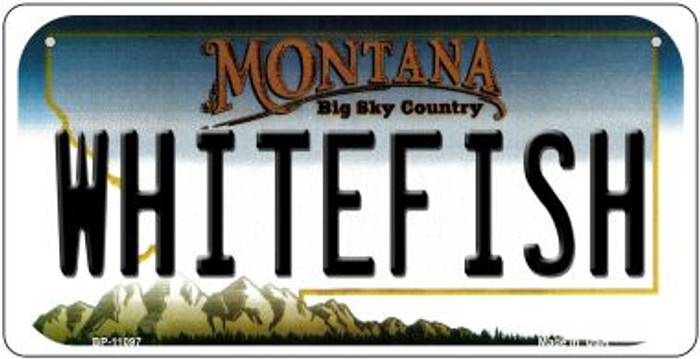 Whitefish Montana Novelty Metal Bicycle Plate BP-11097