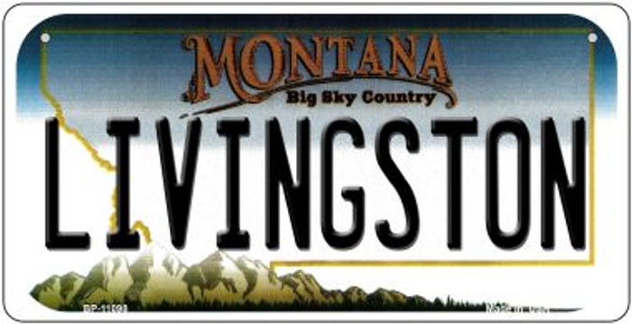 Livingston Montana Novelty Metal Bicycle Plate BP-11098
