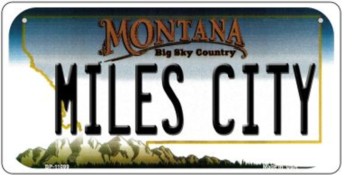 Miles City Montana Novelty Metal Bicycle Plate BP-11099