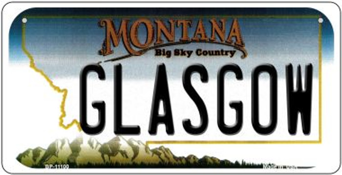 Glasgow Montana Novelty Metal Bicycle Plate BP-11100