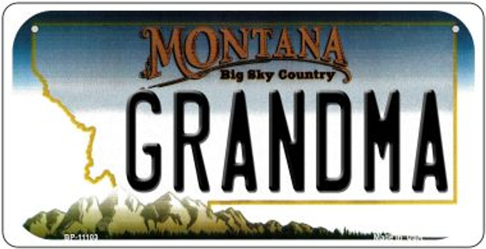 Grandma Montana Novelty Metal Bicycle Plate BP-11103