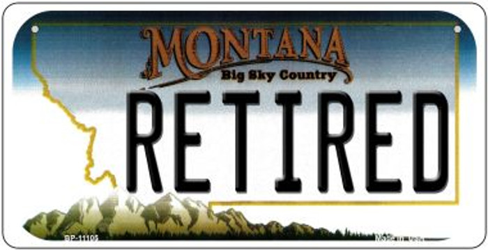 Retired Montana Novelty Metal Bicycle Plate BP-11105