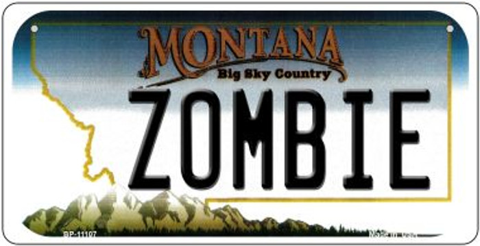 Zombie Montana Novelty Metal Bicycle Plate BP-11107
