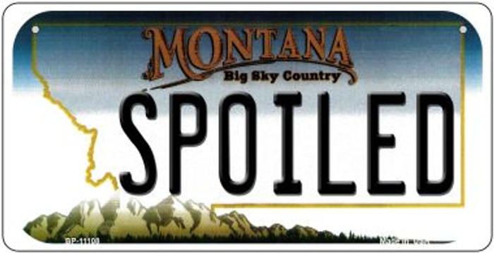 Spoiled Montana Novelty Metal Bicycle Plate BP-11108