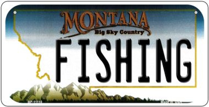 Fishing Montana Novelty Metal Bicycle Plate BP-11110