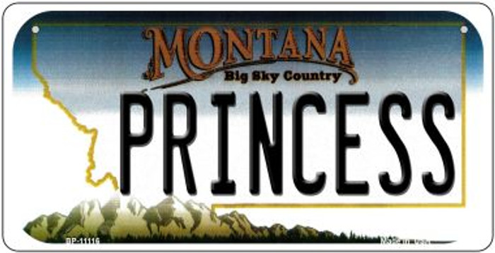 Princess Montana Novelty Metal Bicycle Plate BP-11116