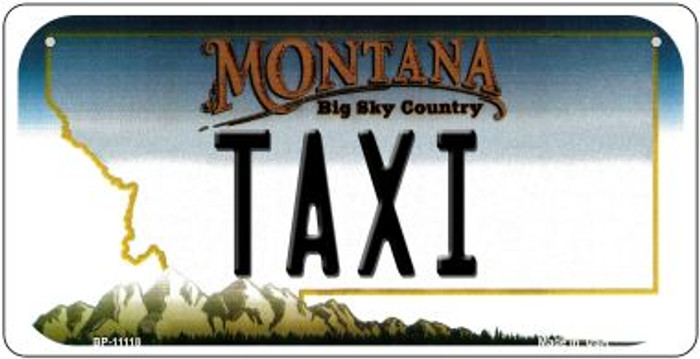 Taxi Montana Novelty Metal Bicycle Plate BP-11118