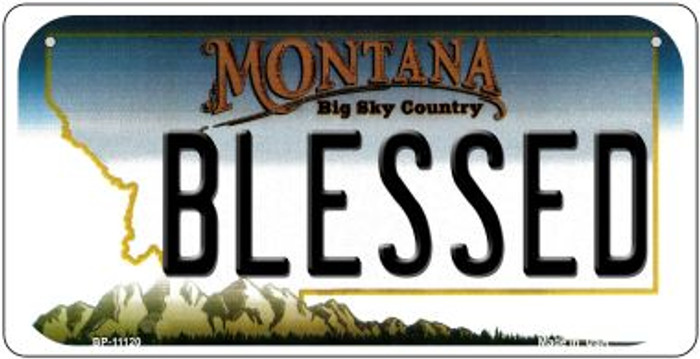 Blessed Montana Novelty Metal Bicycle Plate BP-11120
