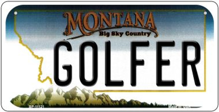 Golfer Montana Novelty Metal Bicycle Plate BP-11121