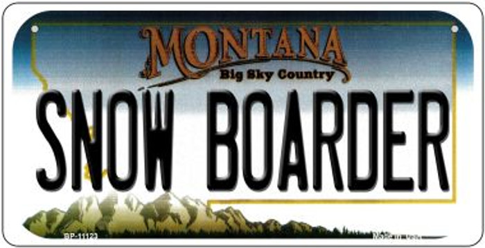 Snow Boarder Montana Novelty Metal Bicycle Plate BP-11123