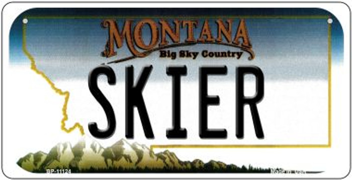 Skier Montana Novelty Metal Bicycle Plate BP-11124