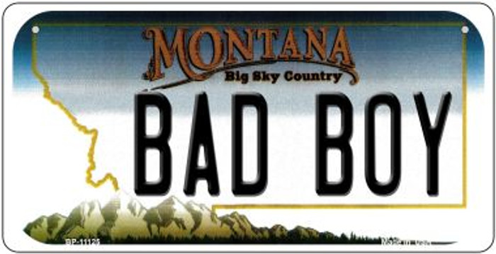Bad Boy Montana Novelty Metal Bicycle Plate BP-11125
