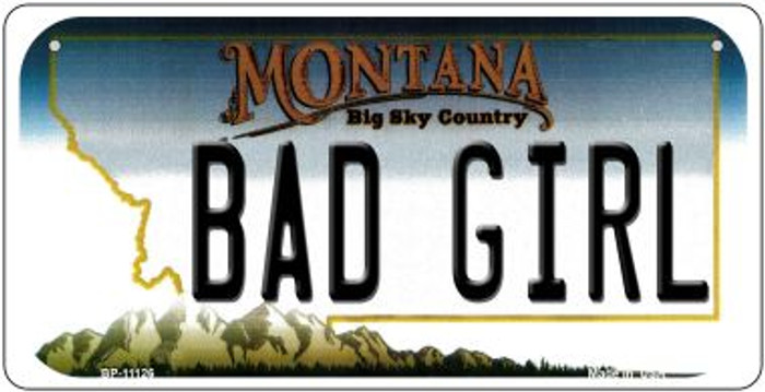 Bad Girl Montana Novelty Metal Bicycle Plate BP-11126