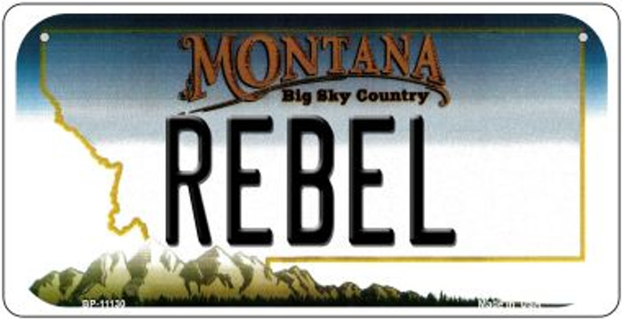 Rebel Montana Novelty Metal Bicycle Plate BP-11130