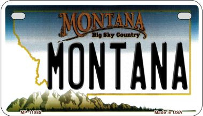 Montana Novelty Metal Motorcycle Plate MP-11085