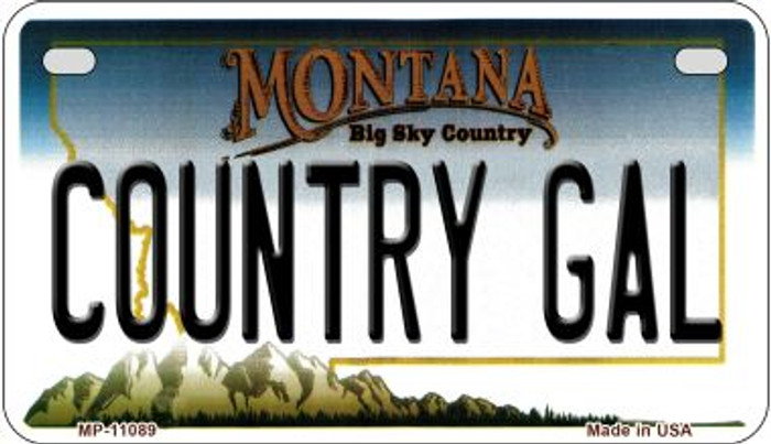 Country Gal Montana Novelty Metal Motorcycle Plate MP-11089