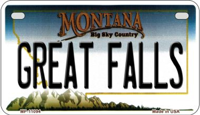 Great Falls Montana Novelty Metal Motorcycle Plate MP-11094