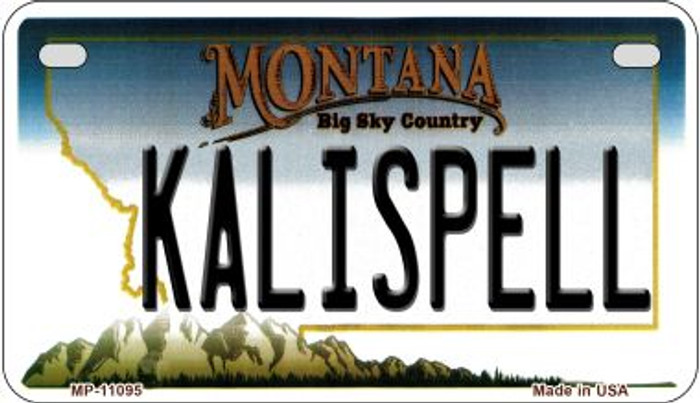 Kalispell Montana Novelty Metal Motorcycle Plate MP-11095