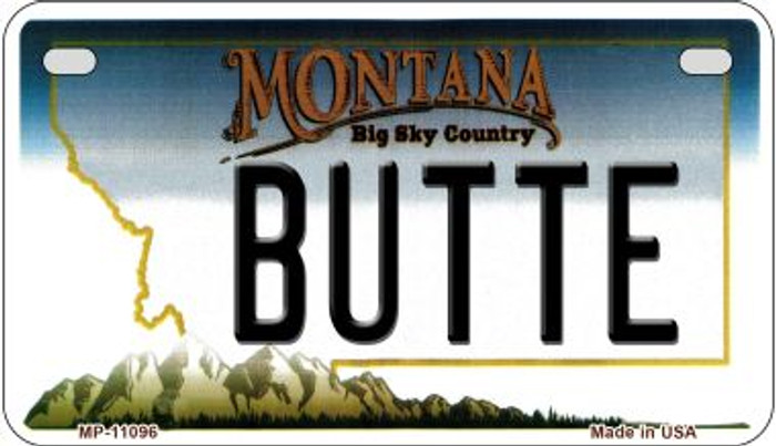 Butte Montana Novelty Metal Motorcycle Plate MP-11096