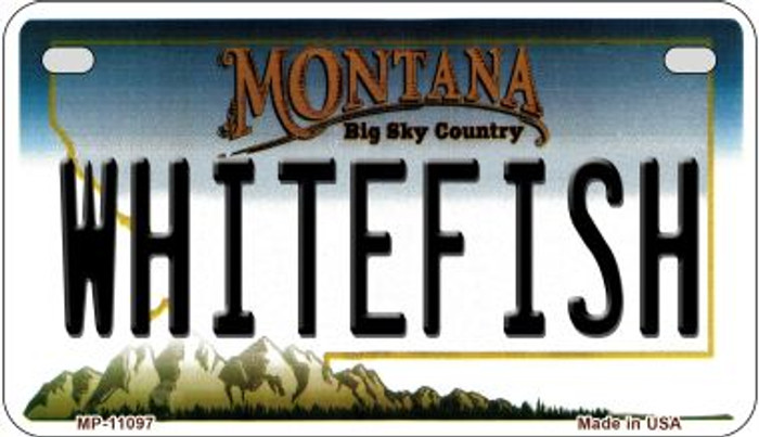 Whitefish Montana Novelty Metal Motorcycle Plate MP-11097