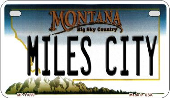 Miles City Montana Novelty Metal Motorcycle Plate MP-11099