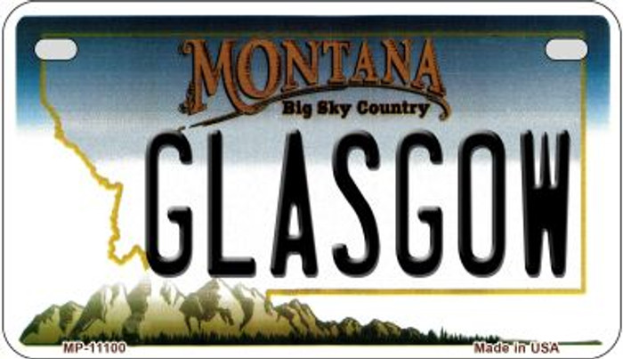 Glasgow Montana Novelty Metal Motorcycle Plate MP-11100