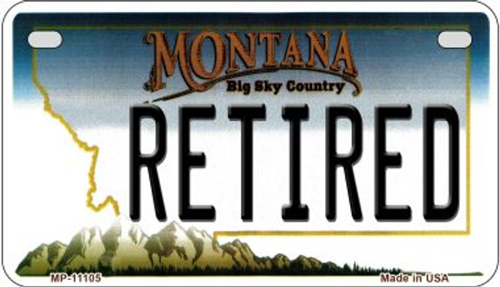 Retired Montana Novelty Metal Motorcycle Plate MP-11105
