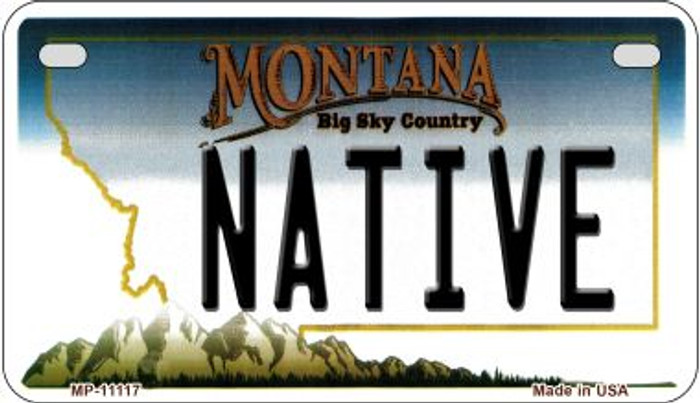 Native Montana Novelty Metal Motorcycle Plate MP-11117