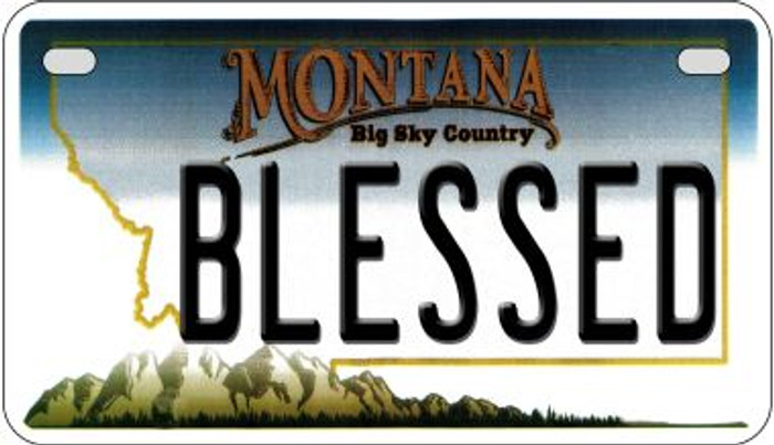 Blessed Montana Novelty Metal Motorcycle Plate MP-11120