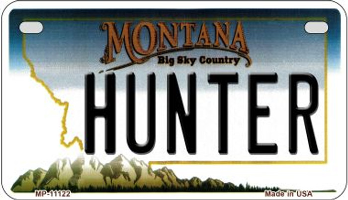Hunter Montana Novelty Metal Motorcycle Plate MP-11122