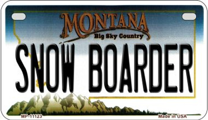 Snow Boarder Montana Novelty Metal Motorcycle Plate MP-11123
